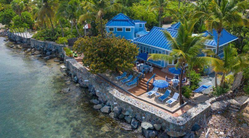 C'est La Sea villa, beachfront St John vacation rental