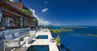 Estate Solenborg Villa St John USVI, pool deck ocean view