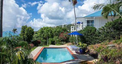 Jasmine Cottage, St John vacation rental pool and ocean view