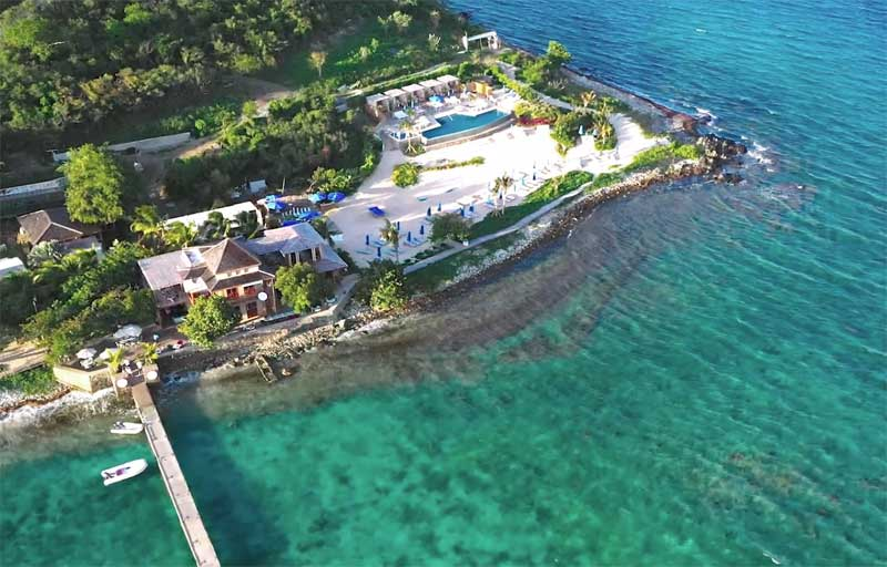 Lovango Resort & Beach Club aerial view