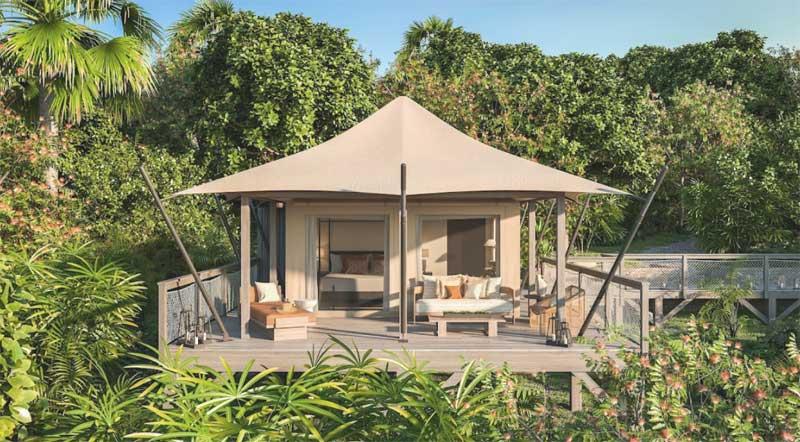 Lovango Resort & Beach Club glamping camping tents