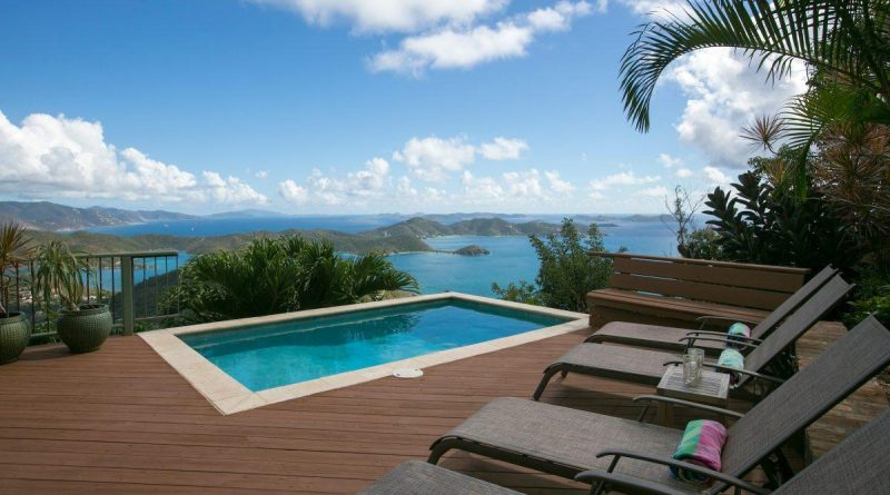 Lunazul Villa, St John vacation rental overlooking Coral Bay pool view