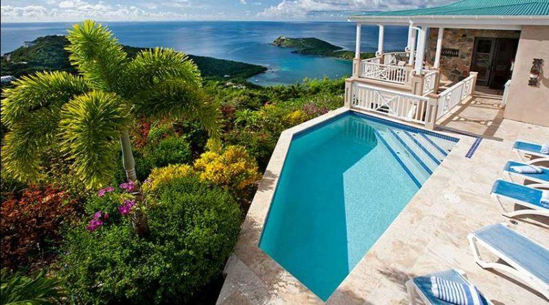 Palm Vista Villa, St John vacation rental ocean view