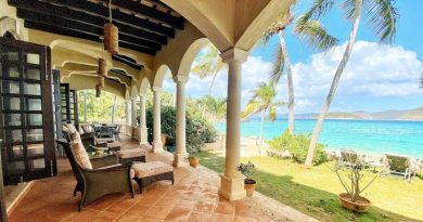 Peter Bay Beach House, St John beachfront vacation rental ocean view
