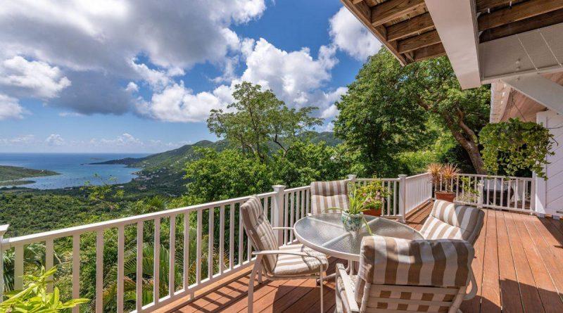 Pina Playa Villa, St John vacation rental deck view