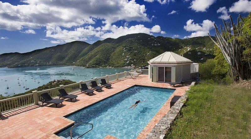 Seagrape Estate, Coral Bay, St John vacation rental pool view