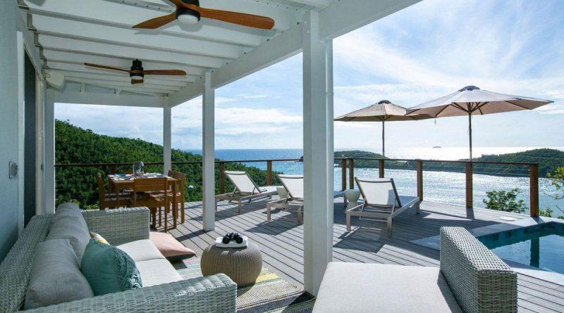 Sundancer Villa, St John pool deck lounger view